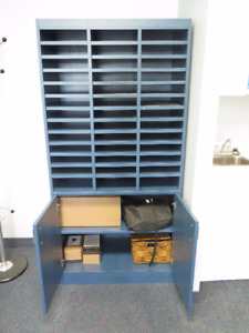 Blue Wooden Cabinet for sale!