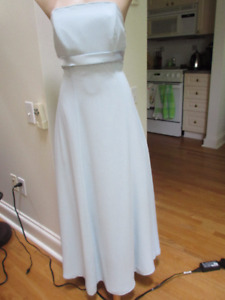 Stunning powder blue formal gown Size 12 Buttons down back
