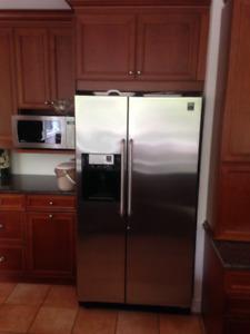 Refrigerator, range and dishwasher