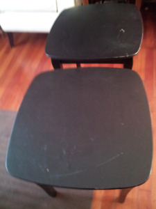 2black solid wood end tables nice color medium sir