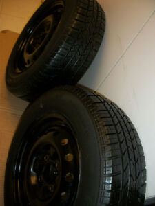 2 Tires Hercules 195 65 15 on Rims 5 x 114.3mm