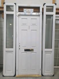 White composite door set white 70mm triple glazed