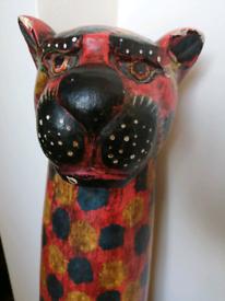 Wooden cheetah