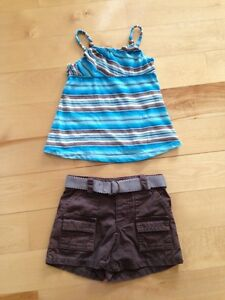 Old Navy shorts & tank top 18-24 months