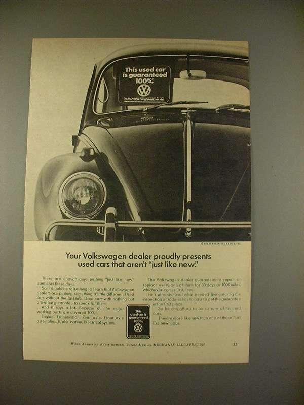 1968 Volkswagen VW Bug Beetle Car Advertisement