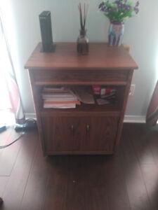 book shelf, utility table, solid oak,