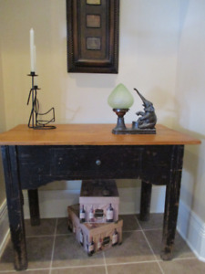 Rare Vintage Farmhouse Table with Drawer