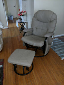 Swivelling Chair and Footstool