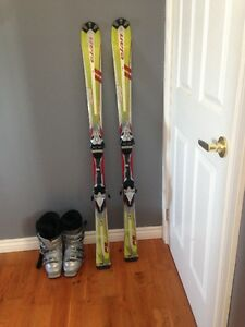Downhill Skiis and boots