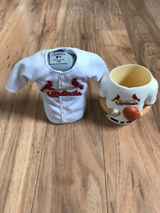 St. Louis Cardinals mini jersey w/ stand and 1 coolie