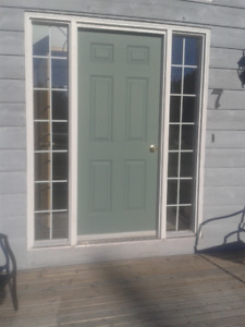 Double sidelight entry door