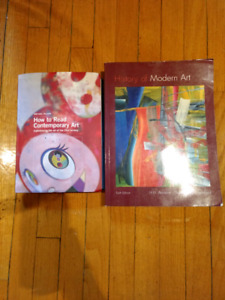Livres d'art moderne/ contemporain