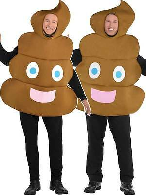 Poo Pooper Emoji Tunic Novelty Funny Adults New Fancy Dress Smiley Costume Turd