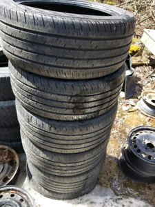 Six 245/45r18 tires