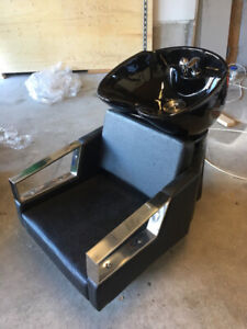 Hair Salon Back Wash Station Chair With Sink