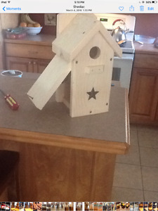 Swallow bird house and bat house