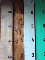 Handmade wooden growth charts