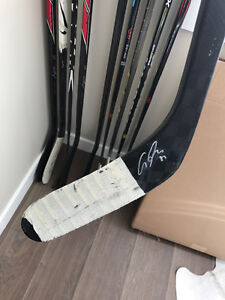 Ales Hemsky Edmonton Oilers Game Used/Signed Stick