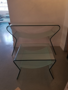 Yoga Console  and side table from Zuo Mod never used