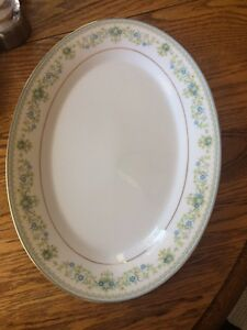 "14 "" large oval Noritake Spring Meadow serving platter"