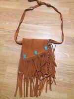 Native leather shoulder bag
