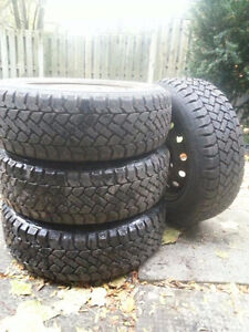 Winter tires with rims