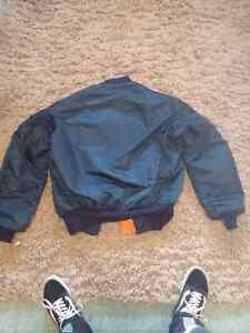 MA-1 Dark Blue Bomber Jacket Windsor Region Ontario image 3