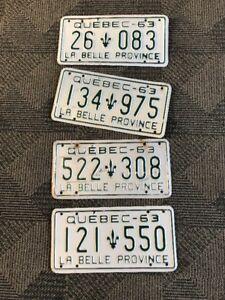 Plaque D'immatriculation 1963 Quebec License plate
