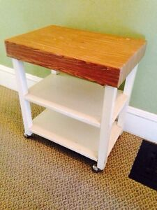 """Vintage Solid Wood Stand/Cart, 24"""" x 16"""" x 26.5"""""""