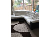 DFS leather corner sofa Ripple