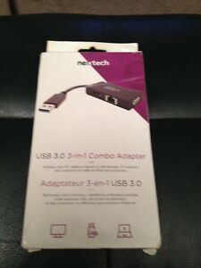 Nextech USB  3.0 3 in 1 Combo Adaptor. Moose Jaw Regina Area image 1