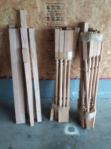 solid oak spindles and baseboards.