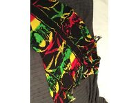 Red/yellow/green/black Bob Marley sarong