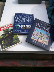 3 large books on military history