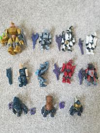 Used, Mega Blok Halo figures for sale  Lichfield, Staffordshire