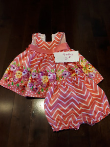 Infant girl dresses range from 6 to 12 months