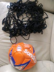 Football and goal net