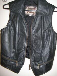 Hand Made Black Leather Vest