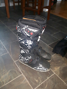 Motocross boots and pants