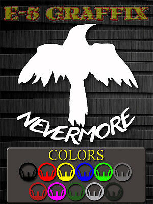 The Raven NEVERMORE Vinyl decal Brid Crow Edgar Allan Poe Poetry