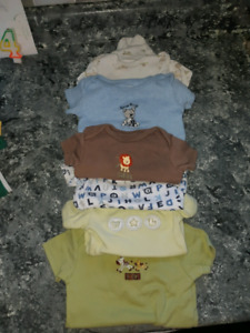 Large lot of Baby boy clothes 0-3 months & sleep sack