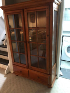 Beautiful Wood Display Cabinet/Dining Room Armoire