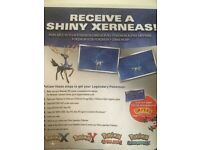 Pokemon Shiny Xerneas Download Code for 3DS