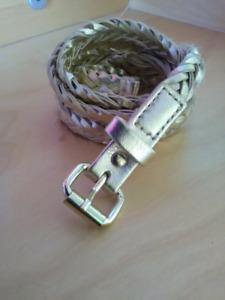 Golden H&M belt
