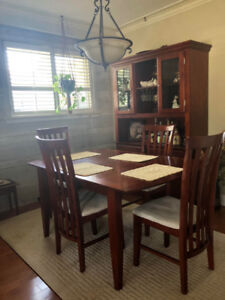 Dining Room Table & Chairs Set + Matching Buffet/Server