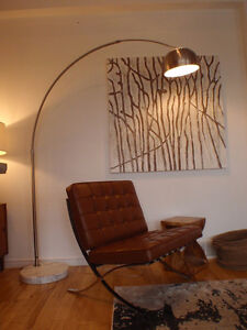 Large modern Arc Floor Lamp with Marble Base