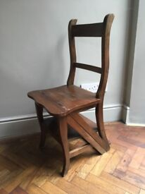 Folding Library Chair/ Steps