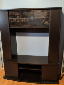 Black Entertainment Unit with TONS of storage
