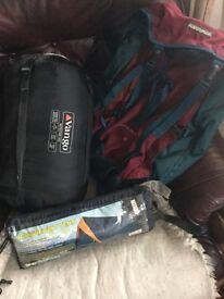 Tent,bed in bag ,rucksack
