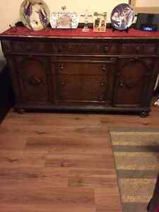 Handcrafted Dining Table and Cabinet Peterborough Peterborough Area image 1